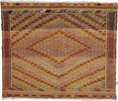 """Vintage Fethiye Jijim Rug - 4' 1"""" x 3' 5"""" (49 in. x 41 in.)"""