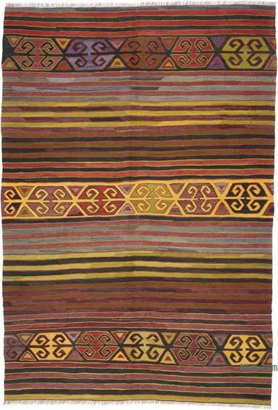 """Vintage Konya Kilim Rug - 5' 9"""" x 8' 4"""" (69 in. x 100 in.)"""