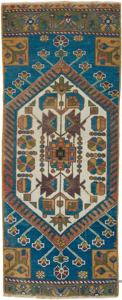 "Turkish Vintage Rug - 1' 8"" x 4' 1"" (20 in. x 49 in.)"