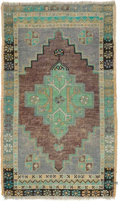 """Vintage Turkish Hand-Knotted Rug - 1' 10"""" x 3' 1"""" (22 in. x 37 in.)"""
