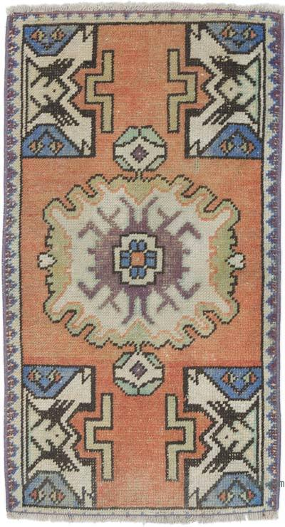 """Vintage Turkish Hand-knotted Rug - 1' 8"""" x 2' 11"""" (20 in. x 35 in.)"""