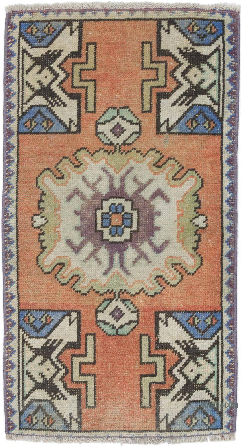 """Vintage Turkish Hand-Knotted Rug - 1' 8"""" x 2' 11"""" (20 in. x 35 in.) - K0054779"""