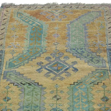 """Vintage Turkish Hand-Knotted Rug - 1' 8"""" x 2' 11"""" (20 in. x 35 in.) - K0054780"""