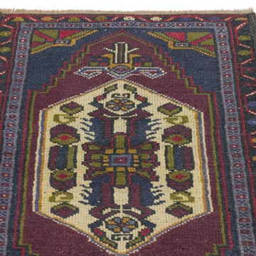 """Vintage Turkish Hand-Knotted Rug - 1' 8"""" x 2' 8"""" (20 in. x 32 in.) - K0054781"""
