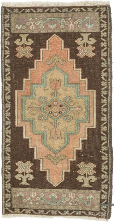 """Vintage Turkish Hand-Knotted Rug - 1' 8"""" x 3' 1"""" (20 in. x 37 in.)"""