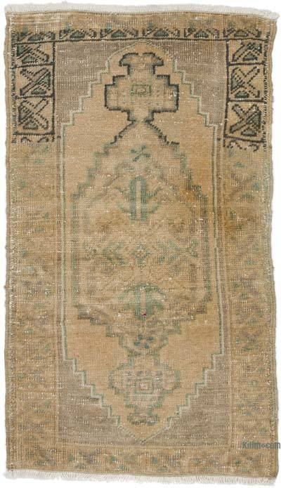 """Vintage Turkish Hand-Knotted Rug - 1' 8"""" x 2' 10"""" (20 in. x 34 in.)"""