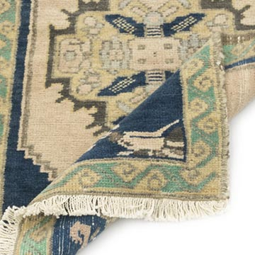 """Vintage Turkish Hand-Knotted Rug - 1' 8"""" x 2' 9"""" (20 in. x 33 in.) - K0054787"""