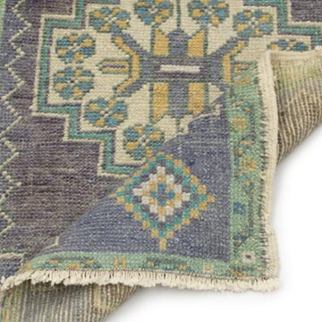 """Vintage Turkish Hand-Knotted Rug - 1' 8"""" x 2' 11"""" (20 in. x 35 in.) - K0054788"""