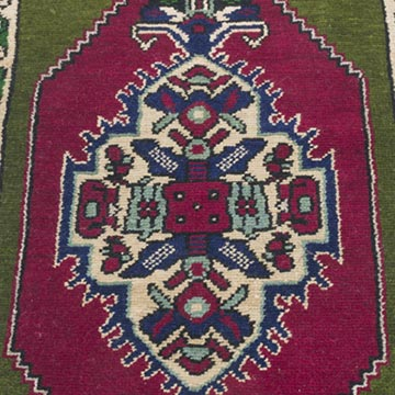 """Vintage Turkish Hand-Knotted Rug - 1' 8"""" x 2' 9"""" (20 in. x 33 in.) - K0054789"""