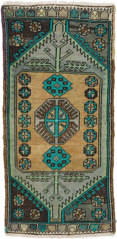 """Vintage Turkish Hand-Knotted Rug - 1' 8"""" x 3' 6"""" (20 in. x 42 in.)"""