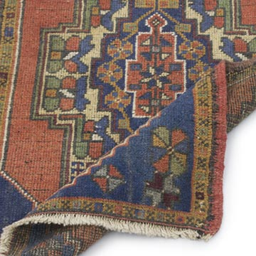 """Vintage Turkish Hand-Knotted Rug - 1' 10"""" x 3' 3"""" (22 in. x 39 in.) - K0054792"""