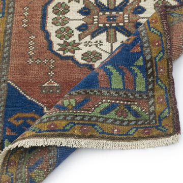"""Vintage Turkish Hand-Knotted Rug - 1' 10"""" x 3' 5"""" (22 in. x 41 in.) - K0054794"""
