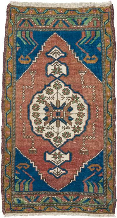 """Vintage Turkish Hand-Knotted Rug - 1' 10"""" x 3' 5"""" (22 in. x 41 in.)"""