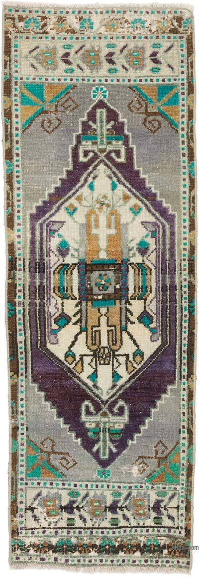"Turkish Vintage Rug - 1' 5"" x 4' 1"" (17 in. x 49 in.)"