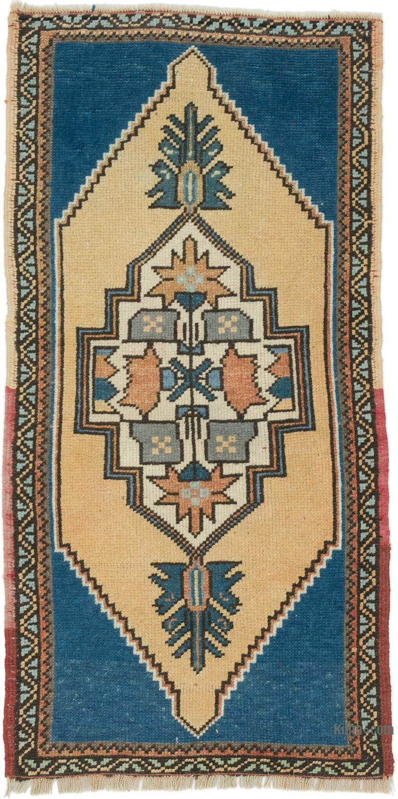 """Vintage Turkish Hand-Knotted Rug - 1' 11"""" x 3' 10"""" (23 in. x 46 in.) - K0054796"""