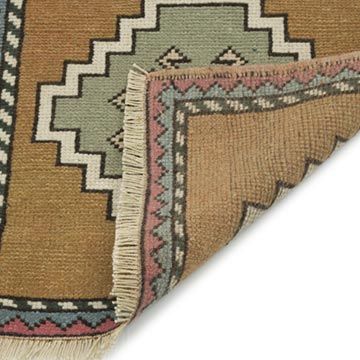 """Vintage Turkish Hand-Knotted Rug - 1' 10"""" x 1' 10"""" (22 in. x 22 in.) - K0054797"""