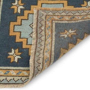 """Vintage Turkish Hand-Knotted Rug - 2' 1"""" x 1' 10"""" (25 in. x 22 in.) - K0054800"""