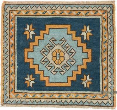 """Vintage Turkish Hand-Knotted Rug - 2' 1"""" x 1' 10"""" (25 in. x 22 in.)"""