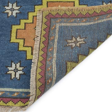 """Vintage Turkish Hand-Knotted Rug - 2' 1"""" x 1' 9"""" (25 in. x 21 in.) - K0054803"""