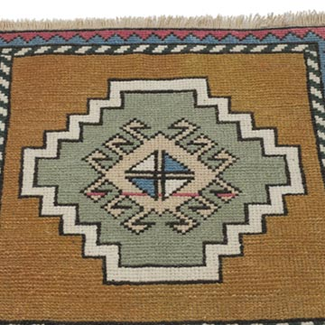"""Vintage Turkish Hand-Knotted Rug - 1' 9"""" x 1' 10"""" (21 in. x 22 in.) - K0054805"""