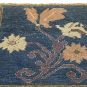 """Vintage Turkish Hand-Knotted Rug - 1' 9"""" x 1' 9"""" (21 in. x 21 in.) - K0054806"""