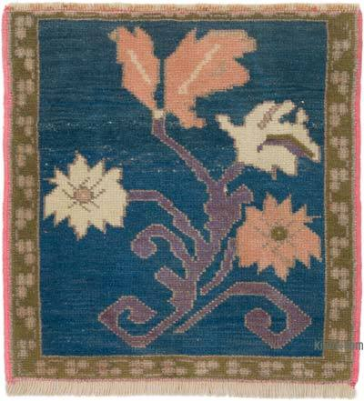 """Vintage Turkish Hand-knotted Rug - 1' 9"""" x 1' 9"""" (21 in. x 21 in.)"""