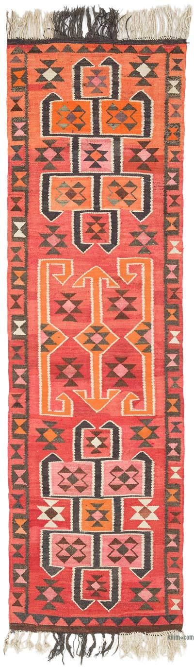 "Vintage Turkish Kilim Runner - 3'  x 10' 1"" (36 in. x 121 in.)"