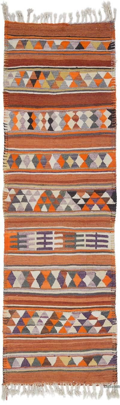 "Vintage Turkish Kilim Runner - 2' 11"" x 9' 5"" (35 in. x 113 in.)"