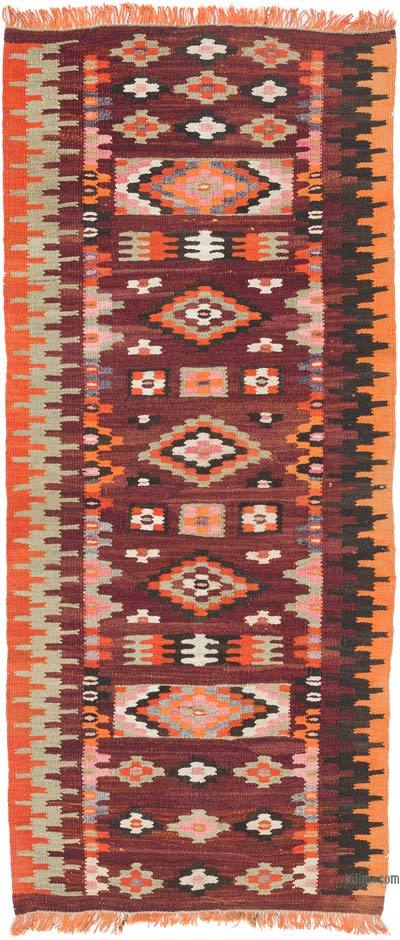 "Vintage Turkish Kilim Runner - 2' 9"" x 6' 3"" (33 in. x 75 in.)"