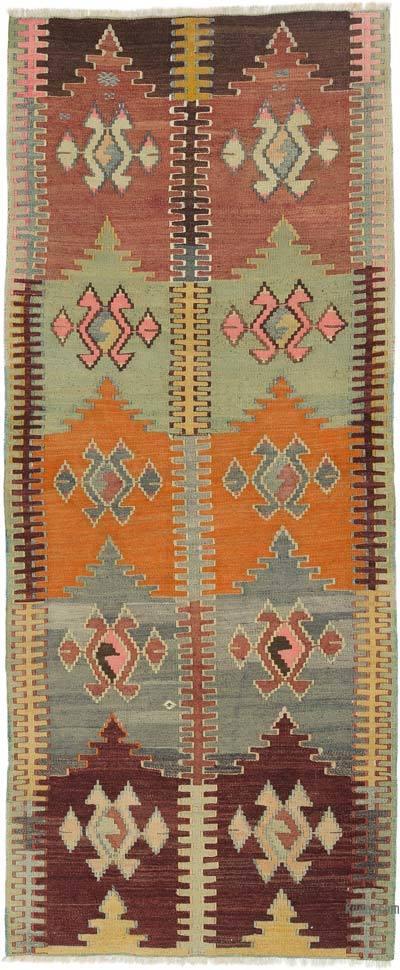 """Vintage Konya Kilim Rug - 2' 8"""" x 6' 5"""" (32 in. x 77 in.)"""