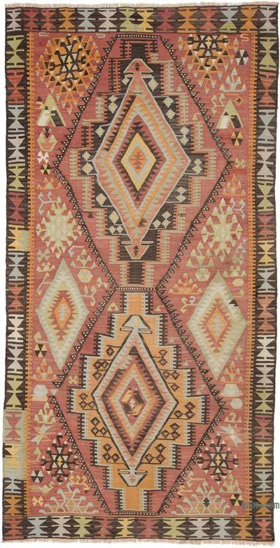 "Vintage Adana Kilim Rug - 4' 1"" x 7' 11"" (49 in. x 95 in.)"
