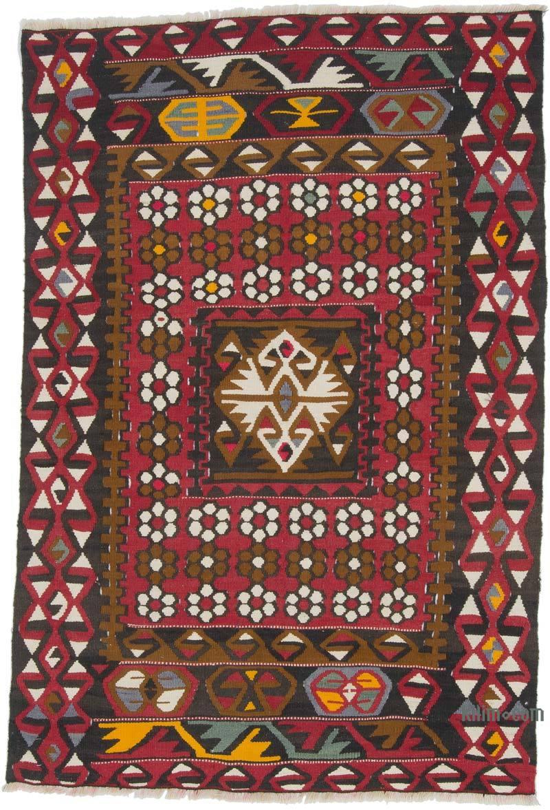 """Vintage Kayseri Kilim Rug - 3' 3"""" x 4' 10"""" (39 in. x 58 in.) - K0055388"""