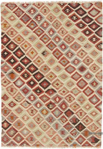 """Vintage Konya Kilim Rug - 3' 8"""" x 5' 3"""" (44 in. x 63 in.)"""