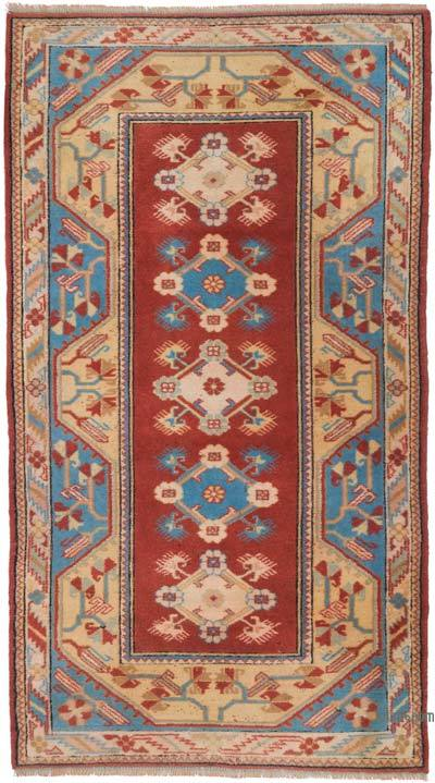 """Vintage Turkish Hand-knotted Area Rug - 4'  x 7' 1"""" (48 in. x 85 in.)"""