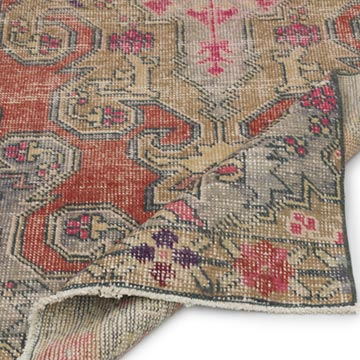 """Vintage Turkish Hand-Knotted Rug - 2' 9"""" x 6' 10"""" (33 in. x 82 in.) - K0055396"""