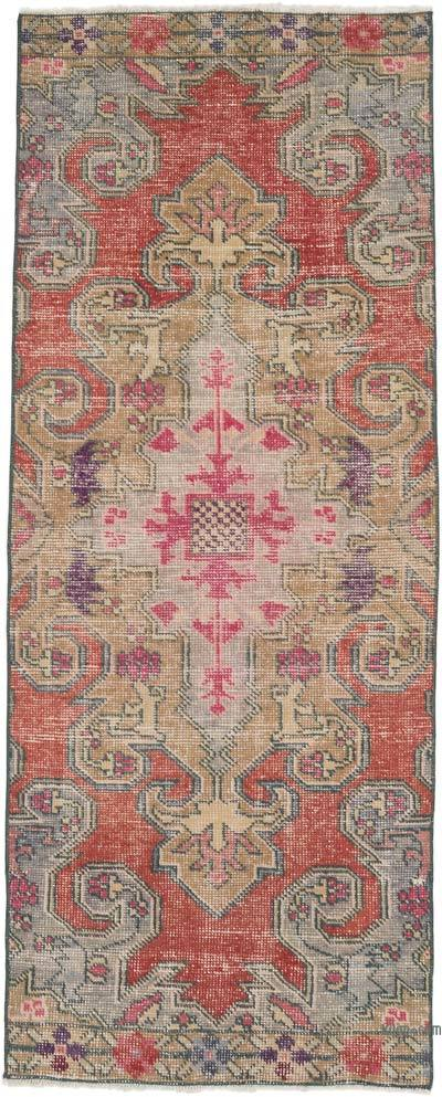 """Vintage Turkish Hand-knotted Area Rug - 2' 9"""" x 6' 10"""" (33 in. x 82 in.)"""
