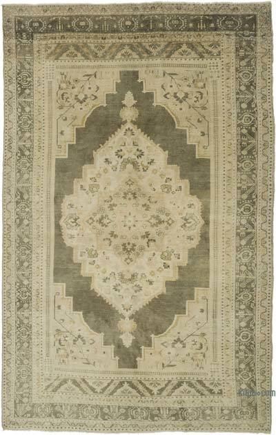"""Vintage Turkish Hand-knotted Area Rug - 7' 5"""" x 11' 9"""" (89 in. x 141 in.)"""