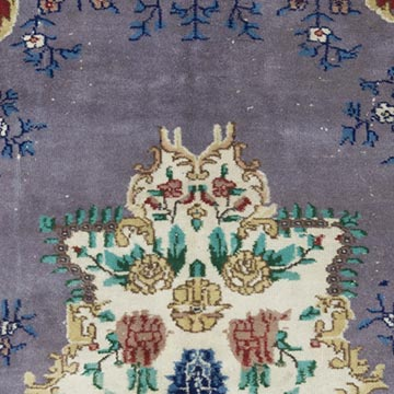 """Vintage Turkish Hand-Knotted Rug - 6' 11"""" x 9' 11"""" (83 in. x 119 in.) - K0055399"""