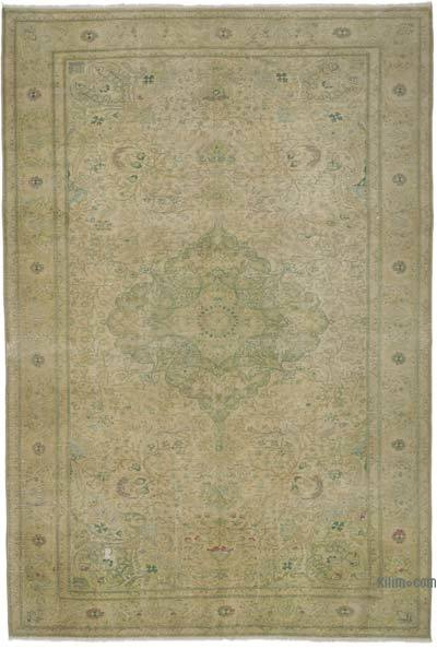 """Vintage Turkish Hand-knotted Area Rug - 6' 6"""" x 9' 7"""" (78 in. x 115 in.)"""