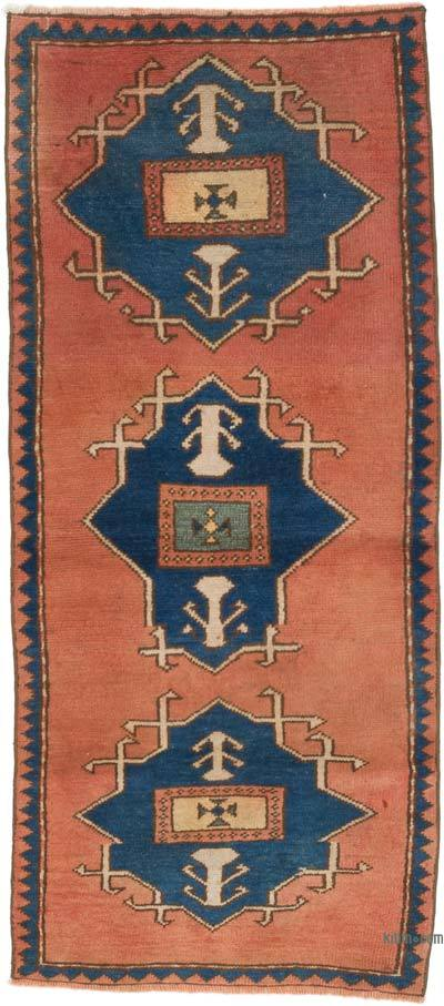 """Vintage Turkish Hand-Knotted Rug - 2' 7"""" x 5' 11"""" (31 in. x 71 in.)"""