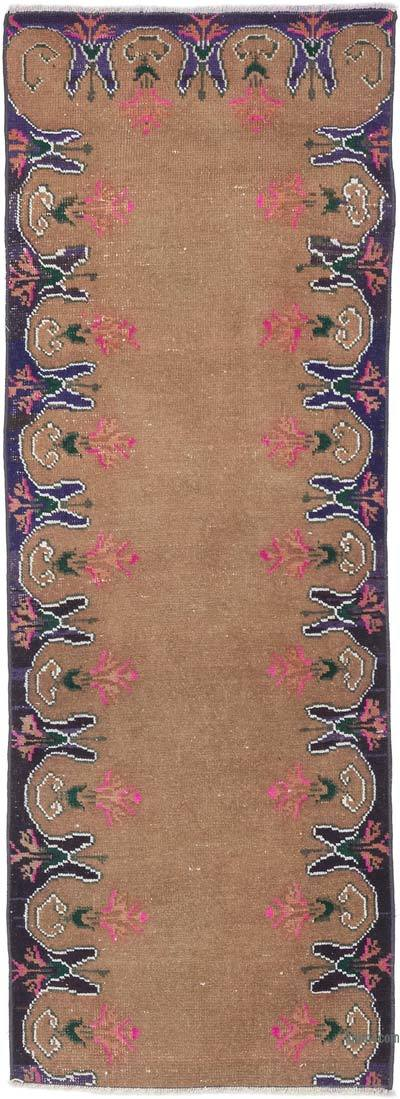 """Vintage Turkish Hand-knotted Runner - 2' 2"""" x 5' 9"""" (26 in. x 69 in.)"""
