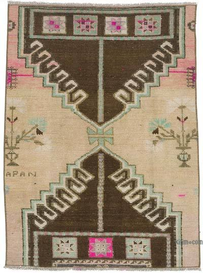 """Vintage Turkish Hand-knotted Area Rug - 2' 10"""" x 3' 10"""" (34 in. x 46 in.)"""