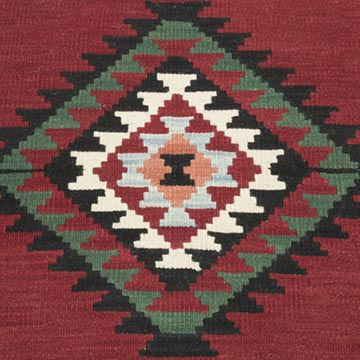 """Red New Handwoven Turkish Kilim Rug - 2' 3"""" x 2' 2"""" (27 in. x 26 in.) - K0056000"""