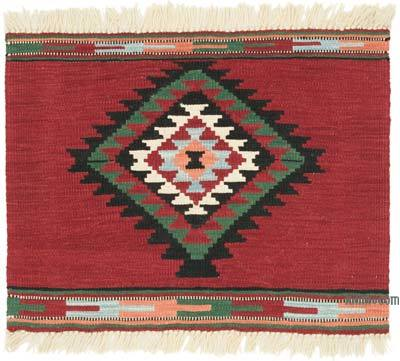 """Red New Handwoven Turkish Kilim Rug - 2' 6"""" x 2'  (30 in. x 24 in.)"""