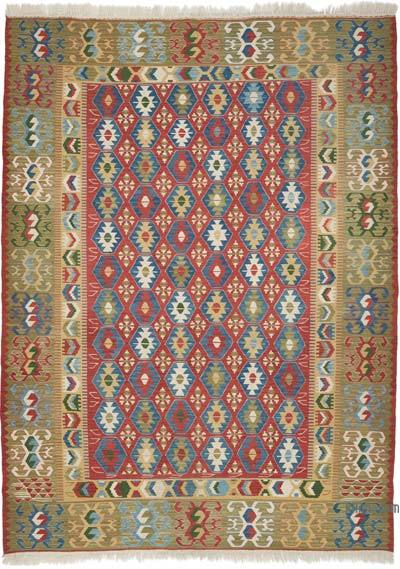 """Multicolor New Handwoven Turkish Kilim Rug - 5' 9"""" x 7' 10"""" (69 in. x 94 in.)"""