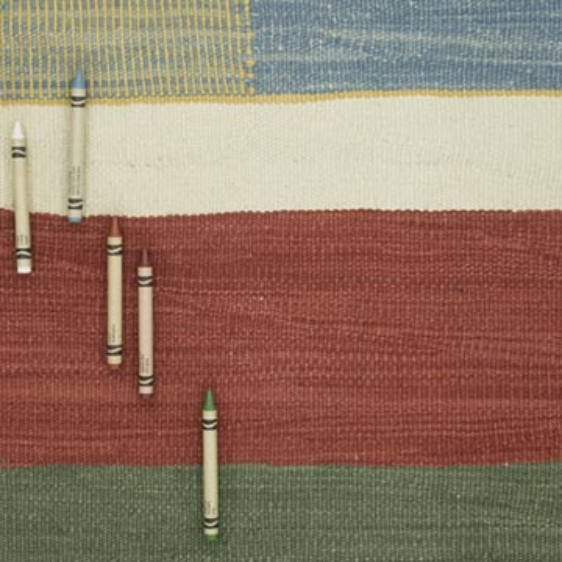 "Multicolor New Handwoven Turkish Kilim Rug - 4' 3"" x 6' 3"" (51 in. x 75 in.) - K0056007"