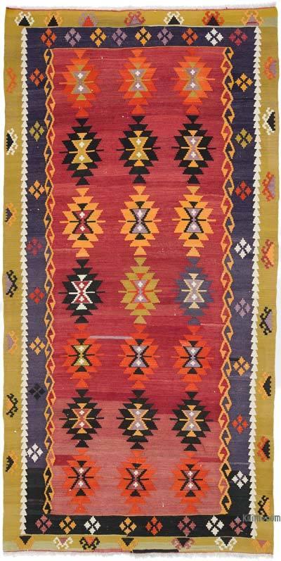 """Vintage Manisa Kilim Rug - 5' 7"""" x 11' 2"""" (67 in. x 134 in.)"""