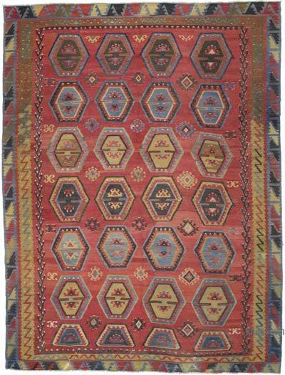 "Vintage Sarkisla Kilim Rug - 8' 7"" x 11' 5"" (103 in. x 137 in.)"
