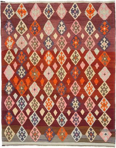 Multicolor Alfombra Vintage Ordu Kilim
