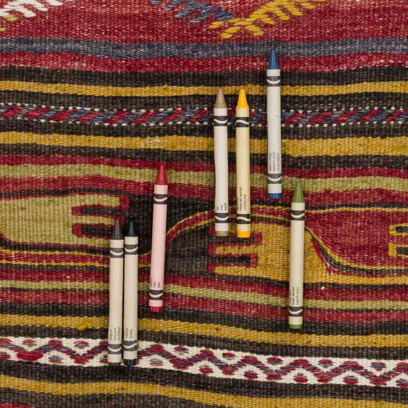 """Vintage Konya Kilim Rug - 3' 1"""" x 4' 5"""" (37 in. x 53 in.) - K0056035"""